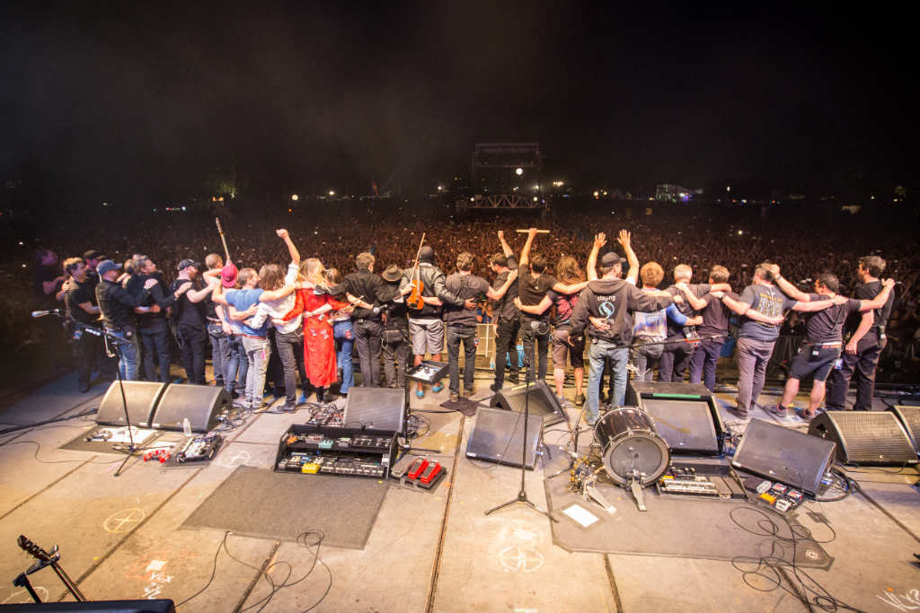 End of show with Mumford and sons